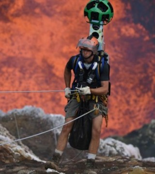 谷歌的地心游记 火山内部360度全景呈现