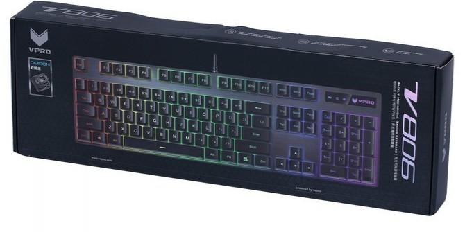 欧姆龙G轴加持 雷柏V806 RGB机械键盘评测